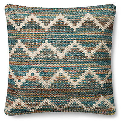 Magnolia Home Virginia 22-Inch Square Throw Pillow in Teal