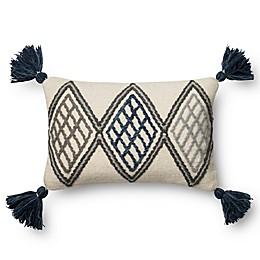 Magnolia Home Soren 13-Inch x 21-Inch Oblong Throw Pillow in Blue/Ivory