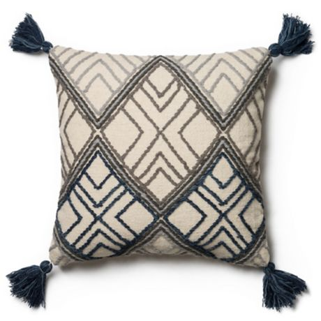 Magnolia Home Soren 22 Inch X 22 Inch Throw Pillow In Blue