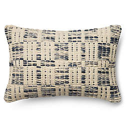 Magnolia Home London 13-Inch x 21-Inch Oblong Throw Pillow in Blue/Ivory