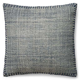 Magnolia Home Wilson 22-Inch Square Throw  Pillow in Blue