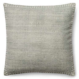 Magnolia Home Wilson 22-Inch Square Throw Pillow in Silver/White