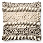 Magnolia Home Joslin 22-Inch Square Throw  Pillow in Grey/Ivory