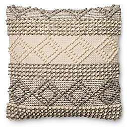 Magnolia Home Joslin 22 Inch Square Throw Pillow In Grey Ivory