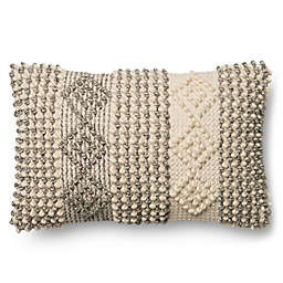 Magnolia Home Joslin 13 Inch X 21 Oblong Throw Pillow In Grey