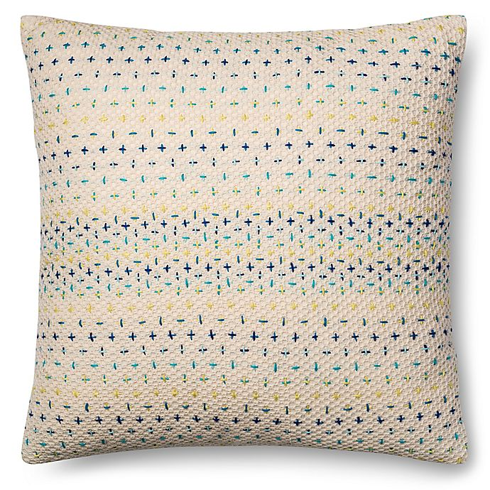 Alternate image 1 for Magnolia Home Delaney 22-Inch x Square Throw Pillow in Blue Multi