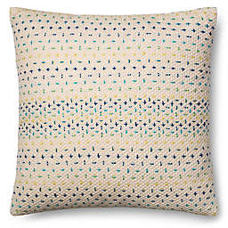 Magnolia Home Delaney 22-Inch x Square Throw Pillow in Blue Multi