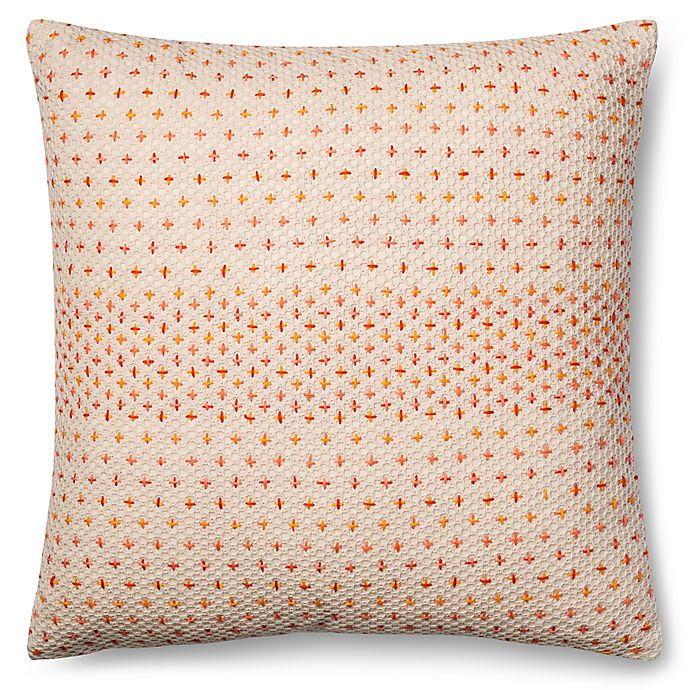 Alternate image 1 for Magnolia Home Delaney 22-Inch x 22-Inch Throw Pillow in Coral Multi
