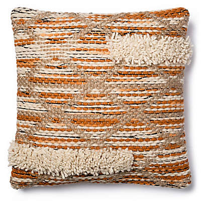 Magnolia Home Hazel 18-Inch SquareThrow Pillow in Orange/Ivory