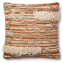 Magnolia Home Hazel 18-Inch SquareThrow Pillow in Orange/Ivory