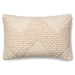 Magnolia Home Fae 13-Inch x 21-Inch Oblong Throw Pillow in Ivory