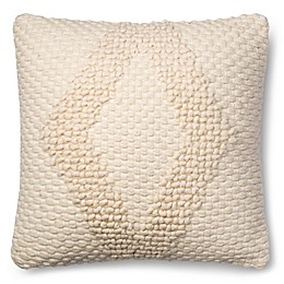 Magnolia Home Fae 22-Inch Square Throw Pillow in Ivory