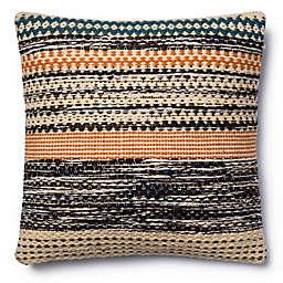 Magnolia Home Jordan 22-Inch  Square Throw Pillow in Orange/Blue