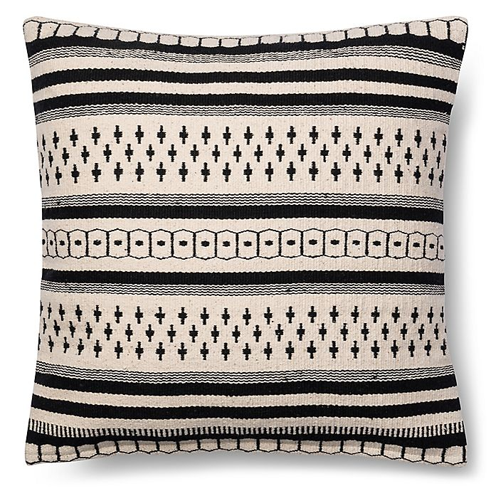 Magnolia Home Charis 18 Inch Square Throw Pillow In Blackwhite
