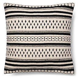 Magnolia Home Charis 18-Inch Square Throw Pillow in Black/White