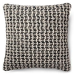 Magnolia Home Trellis 22-Inch Square Throw Pillow in Black/White
