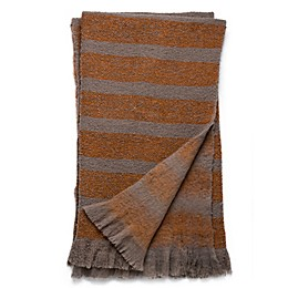 Magnolia Home Duke 50-Inch x 60-Inch Reversible Throw in Taupe/Orange