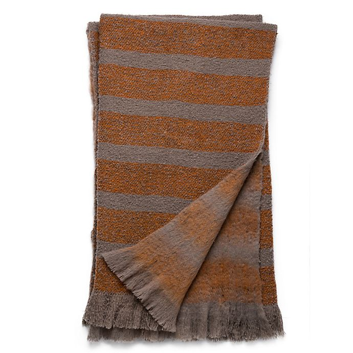 Alternate image 1 for Magnolia Home Duke 50-Inch x 60-Inch Reversible Throw in Taupe/Orange