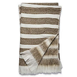 Magnolia Home Duke 50-Inch x 60-Inch Reversible Throw in White/Camel
