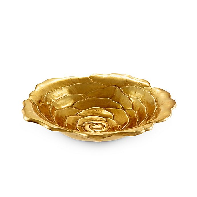 Alternate image 1 for Julia Knight® Flowers Rose 12-Inch Bowl in Gold