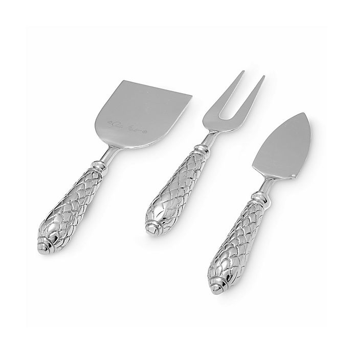 Alternate image 1 for Julia Knight® Florentine Silver 3-Piece Cheese Serving Set