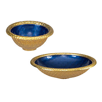 Julia Knight® Florentine Gold Serveware Collection in Sapphire