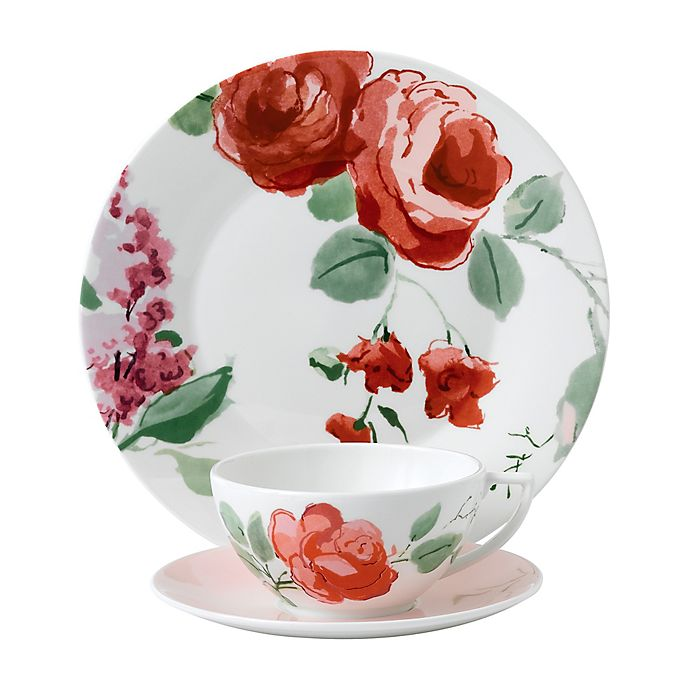 Alternate image 1 for Wedgwood® Jasper Conran Floral Rose 3-Piece Place Setting