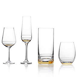 02fbe5310e0b Mikasa reg  Lux Gold Wine Glass Collection