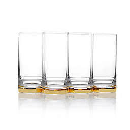 Mikasa® Lux Highball Glasses in Gold (Set of 4)