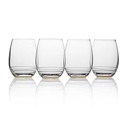 Mikasa® Lux Stemless Wine Glasses in Platinum (Set of 4)