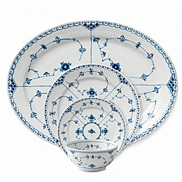 Royal Copenhagen Fluted Half Lace Dinnerware Collection in Blue