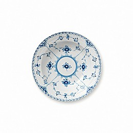 Royal Copenhagen Fluted Half Lace Rim Soup Bowl in Blue