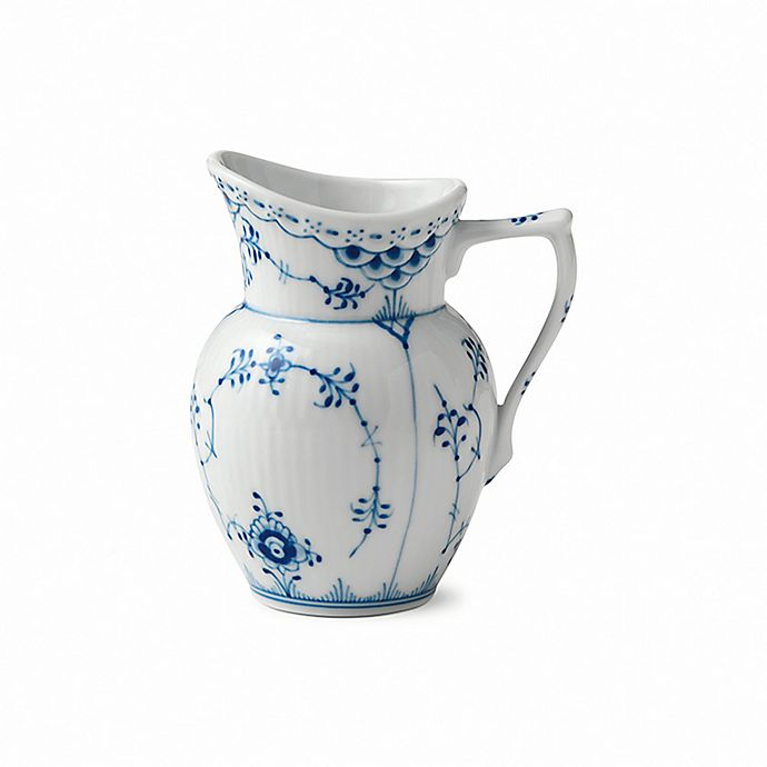 Alternate image 1 for Royal Copenhagen Fluted Half Lace Creamer in Blue