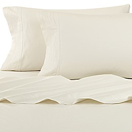 Kelly Wearstler Canyon Shoreline Fitted Sheet in Ivory