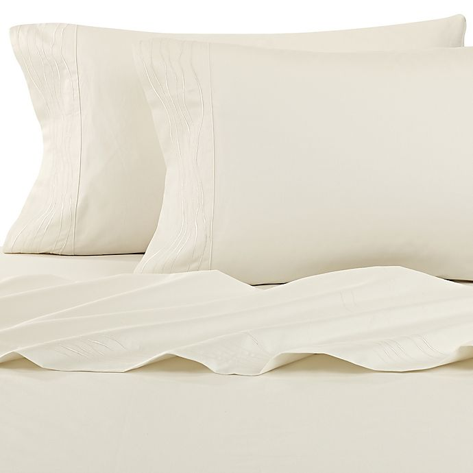 Alternate image 1 for Kelly Wearstler Canyon Shoreline Fitted Sheet in Ivory