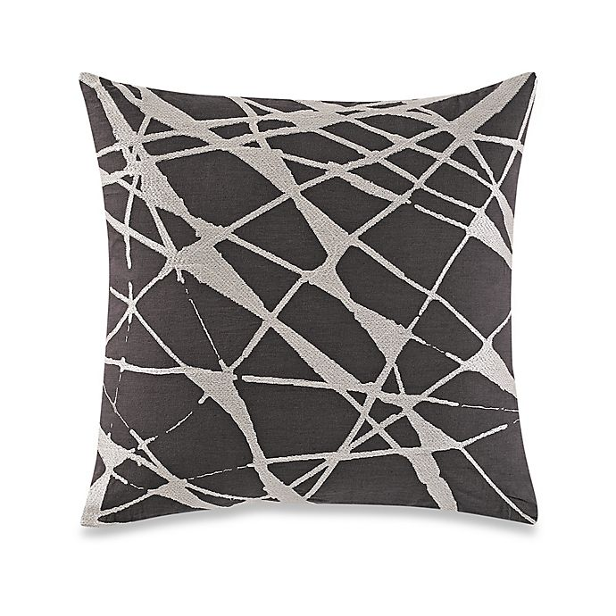 Alternate image 1 for Kelly Wearstler Canyon Pleat Square Throw Pillow in Smoke