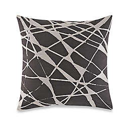 Kelly Wearstler Canyon Pleat Square Throw Pillow in Smoke
