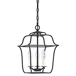 Quoizel® Gallery 3-Light Foyer Chandelier in Royal Ebony