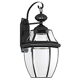 Quoizel Newbury LED Outdoor Wall Lantern with Glass Shade