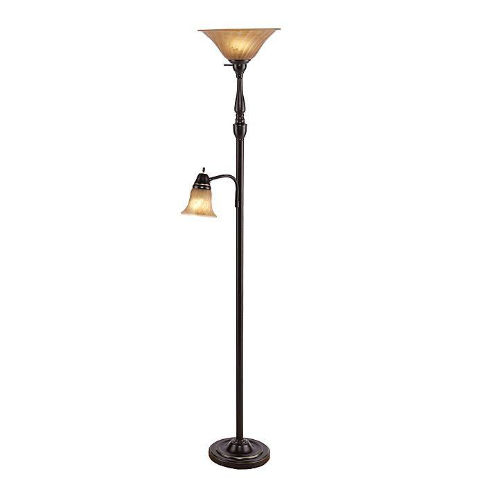 Alternate image 1 for Southern Enterprises Ferguson Floor Lamp in Black