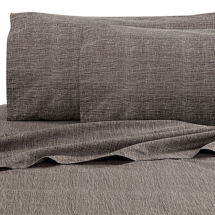 Alternate image 1 for Kelly Wearstler Haze Mesh Fitted Sheet in Dusk