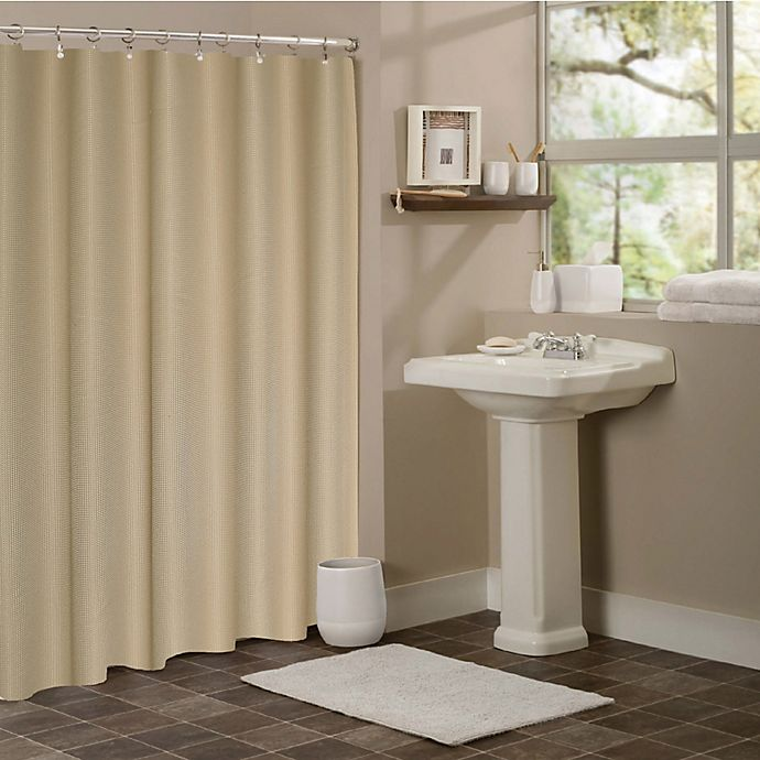 Hotel Collection Waffle Shower Curtain In Mocha