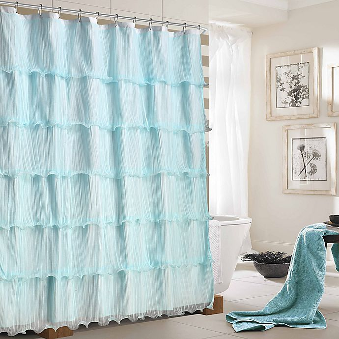 Dainty Home Lily Ruffled Shower Curtain Bed Bath Beyond