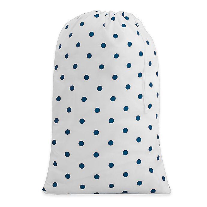 Alternate image 1 for Dot Print Laundry Bag in Navy