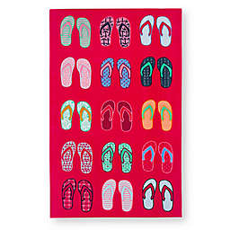 Flip Flops Beach Towel in Magenta