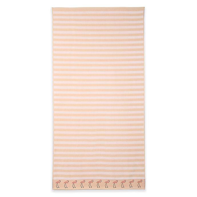 Alternate image 1 for Flamingo Beach Towel in Pink