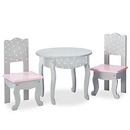 Olivia's Little World Doll Furniture 18-Inch Dots Table And Chair Set in Pink/Grey