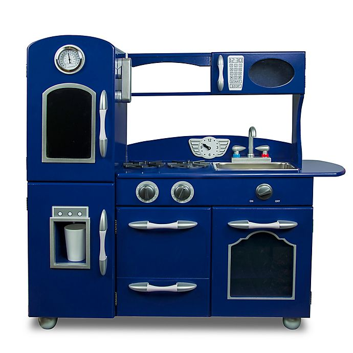 Outstanding Teamson Kids Wooden Play Kitchen Set In Navy Buybuy Baby Download Free Architecture Designs Scobabritishbridgeorg