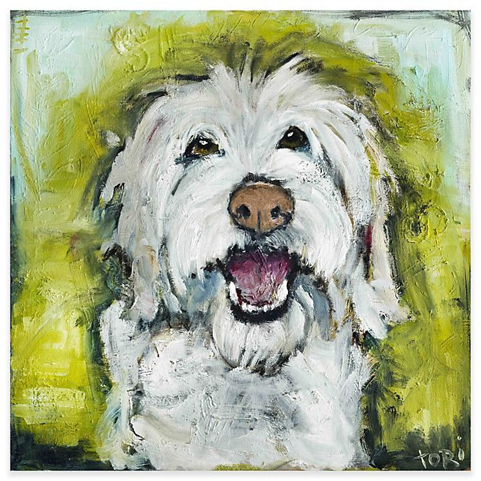 Alternate image 1 for Marmont Hill Smiley Dog 18-Inch x 18-Inch Canvas Wall Art