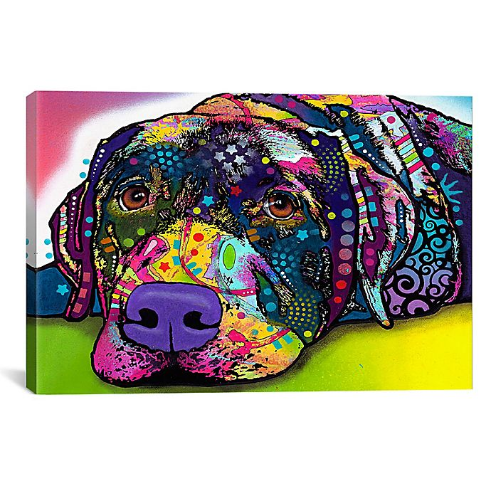 Alternate image 1 for Savvy Labrador 26-Inch x 18-Inch Canvas Wall Art